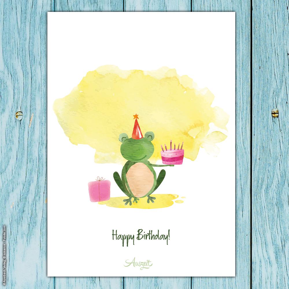 Geburtstagswünsche frosch