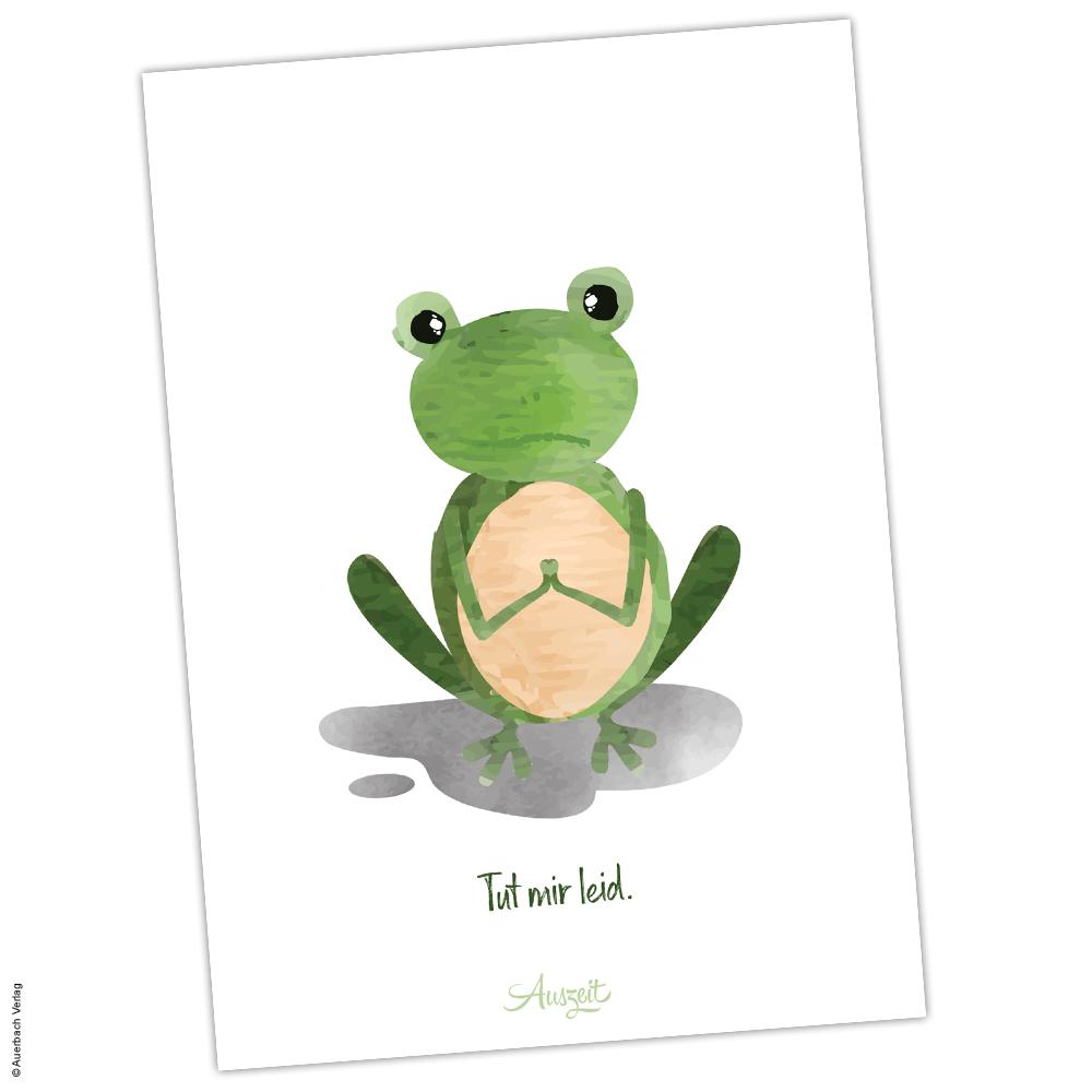"""Postkarte Frosch """"Tut mir leid - Auszeit"""