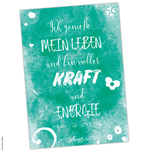 "Poster Affirmation ""Kraft & Energie"" (A4 / A3 / A2)"