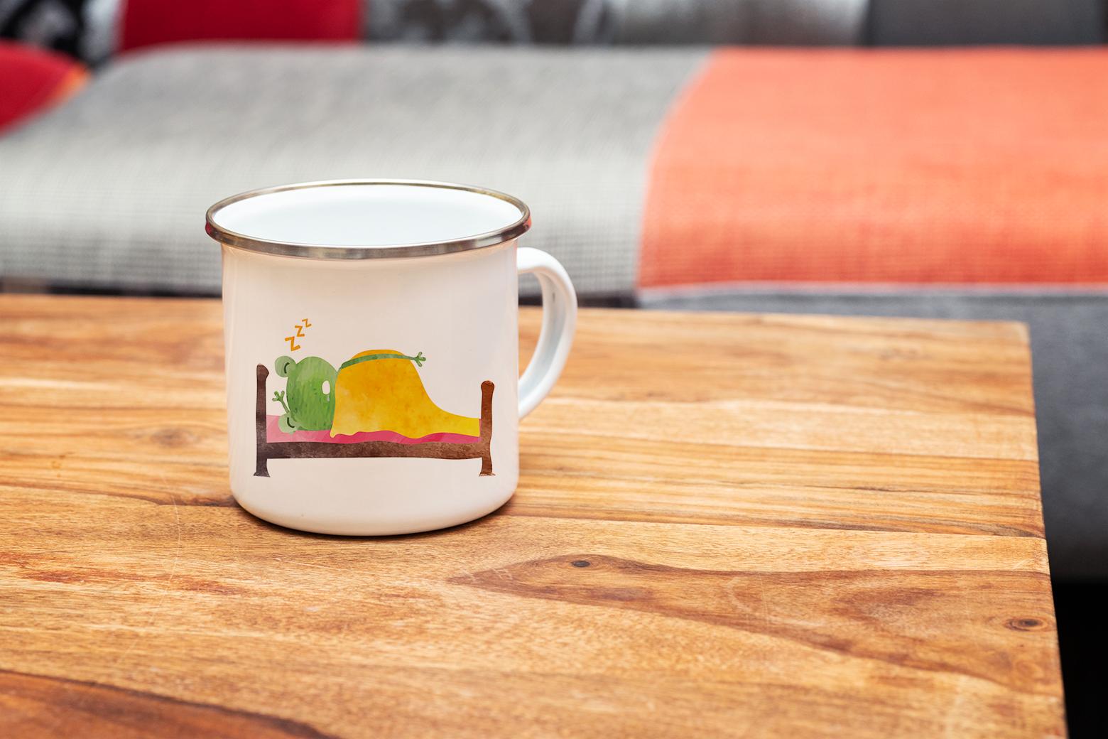 """Tasse Frosch """"Früher Frosch"""" (330, 340, 450 ml / mit od. ohne Spruch)"""