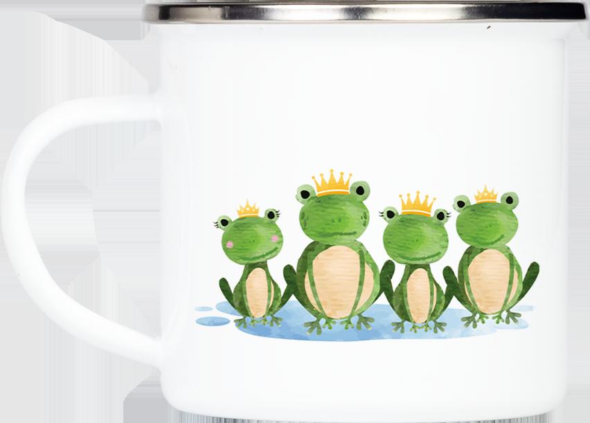 """Tasse Frosch """"Gruß aus den Ferien"""" (330, 340, 450 ml / mit od. ohne Spruch)"""