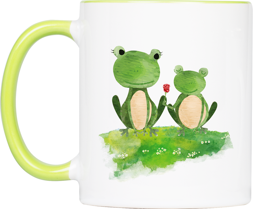 """Tasse Frosch """"Danke, Mama!"""" (330, 340, 450 ml / mit od. ohne Spruch)"""