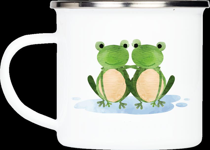 """Tasse Frosch """"Zusammenhalt"""" (330, 340, 450 ml / mit od. ohne Spruch)"""