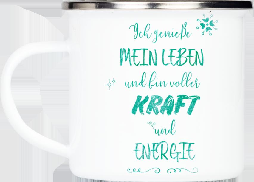 "Tasse Affirmation ""Kraft & Energie"" (330, 340, 450 ml)"