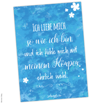 "Poster Affirmation ""Ich fühle mich wohl"" (A4 / A3 / A2)"