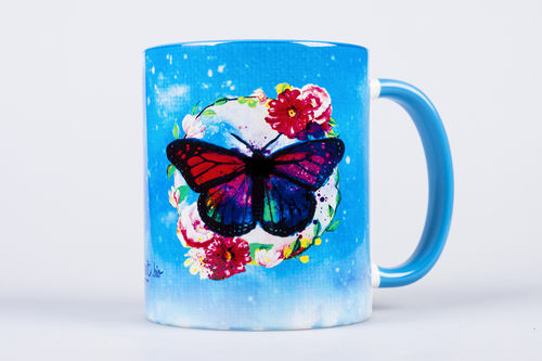 "Tasse ""Schmetterling"" blau (330ml)"